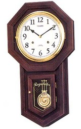 アンティーク風の柱時計です