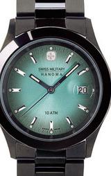 スイスミリタリー(SWISSMILITARY) PVDブラック 男性用腕時計 ML190