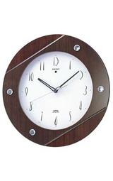 人気のナチュラルカラーの木枠の電波掛け時計KS270A