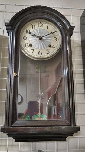 ゼンマイ式掛け時計の修理