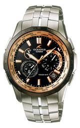 カシオ クロノグラフ ソーラー電波時計 オシアナス男性用腕時計OCW-S1400B-1AJF