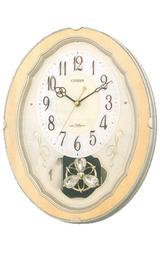 メロディで毎正時を知らせてくれるシチズンのメロディー掛け時計