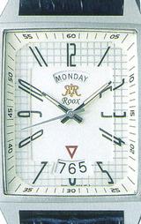 すっきりとした見やすい文字盤レイアウトにワイドカレンダーを採用した腕時計です
