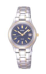 光発電で電池交換不要の女性用ソーラー腕時計 セイコー スピリット STPS026
