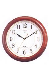 暗くなると文字板中央が光る音の静かな電波時計