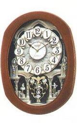 文字盤のモチーフがワルツを踊るように回転するからくり時計