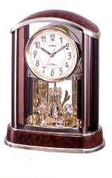 電波機能を搭載した一方向クリスタル回転飾り付きの置時計