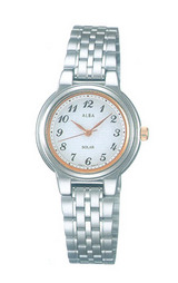 アルバ女性用ソーラー腕時計サクセスAADD009