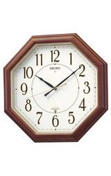 セイコー 掛時計 暗くなると音の静かな電波時計 ツインパKS274B