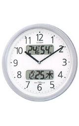 シチズン 温湿度計・カレンダー付きの暗くなると音の静かな電波時計ネムリーナ 4FYA01-019