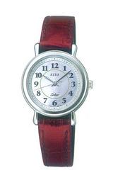 白蝶貝文字板の女性用ソーラー腕時計AADD015