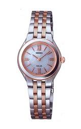 光発電で電池交換不要の女性用ソーラー腕時計セイコー(SEIKO)スピリットSTPR004