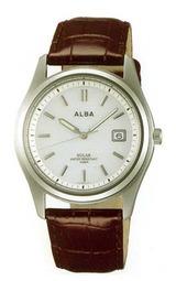電池交換を必要としないアルバのソーラー腕時計AEFD503