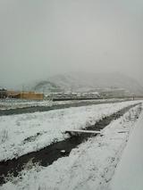 雪景色でした