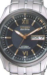 ソーラー電波時計アテッサATD53-2804