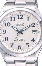 シチズン CITIZEN ソーラー電波時計 男性用 アテッサ ATD53-2844
