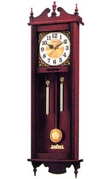 木枠の柱時計4MJ743-006