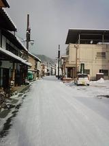 町並み保存地区も真っ白です
