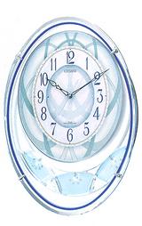 涼しい感じのある水色のメロディー掛け時計