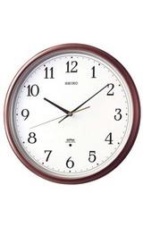 1秒を刻みながら進むステップ秒針のSEIKO 壁掛け時計 ツイン・パ