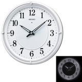 名入れ 時計 文字入れ付き 暗くなると光る壁掛時計 掛け時計 電波時計 KX393W セイコー SEIKO