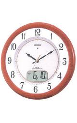 シチズンフルオートカレンダー付きの暗くなると音の静かな電波時計ネムリーナ4FY613-006