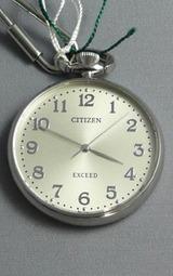 シチズン(CITIZEN)エクシード 懐中時計 EBA74-2732 ポケットウオッチ 鎖つき