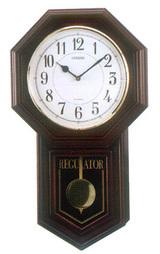 正時メロディ報時付きの振り子時計シチズン柱時計ベングラー4MJA03-006