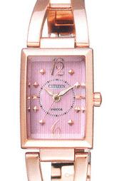 ちょっと大人っぽいハーフバングルタイプのシチズン(CITIZEN)腕時計Wicca(ウィッカ)
