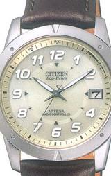 革バンドのCITIZEN シチズン ソーラー電波時計 アテッサ 男性用腕時計 ATD53-2755