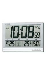 セイコー温度湿度表示つきデジタル電波時計sq418s