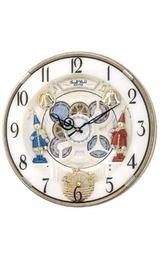 からくり時計 スモールワールド 電波掛時計 4MN490RH18 「開院・開業・結婚・新築祝いの贈り物 ギフトに時計」