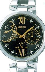 カラーリングやクロスモチーフのカットガラスが華やかな腕時計です