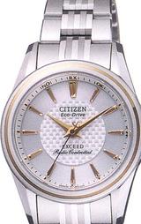 シチズン(CITIZEN)高級ソーラー電波時計 エクシード女性用EBD75-2642