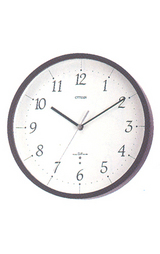 木枠のシンプル&モダンな電波掛け時計 ライフィット 8MY441-006
