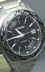 シチズン ワールドタイムソーラー電波時計アテッサ ATD53-3091