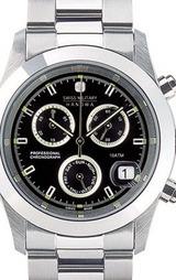 スイスミリタリー(SWISSMILITARY) エレガントビッグクロノ腕時計 ML244