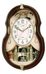 メロディ電波掛け時計 パルミューズ4mn495-006