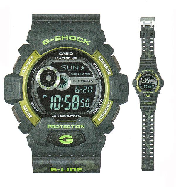 カシオ CASIO 迷彩柄バンド Gショック G-SHOCK G-LIDE Gライド メンズ 腕時計 男性用 GLS-8900CM-1JF 国内正規品