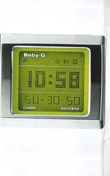 スクエアフェイスが人気のBaby-G KASKET Slim
