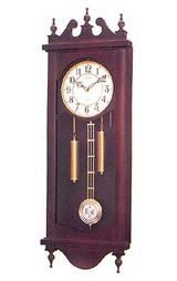 シチズン木枠の柱時計ストローク4MJ807-006