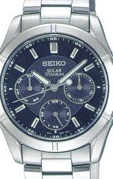 セイコー SEIKO スピリット チタンボディーで肌に環境にもやさしいソーラー腕時計 男性用SBPV001