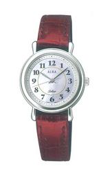 マイナスイオン革バンドのソーラー腕時計