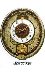 セイコー からくり時計 メロディーと楽しい動きの電波時計 RE568B