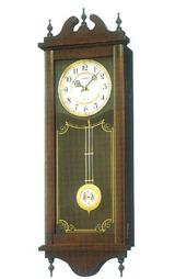 セイコー SEIKO 掛時計 電子音チャイムで報知する木枠の柱時計RQ309A