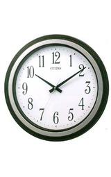 直径が390mmと少し大きめのモダンな掛時計シチズンコモドーレ8mga25-002