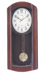 報時付きの暗くなると音の静かな電波時計アーバンライフM475柱時計