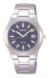 光発電で電池交換不要の男性用ソーラー腕時計セイコー(SEIKO)スピリットSBPS056
