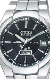日、曜日付 CITIZEN シチズン ソーラー電波時計 アテッサ 男性用腕時計 ATD53-2771
