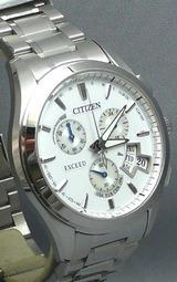 日本・アメリカ・ヨーロッパ・中国対応 ソーラー電波時計エクシード男性用腕時計EBS74-5101